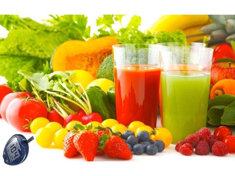 frutas jugos diabeticos